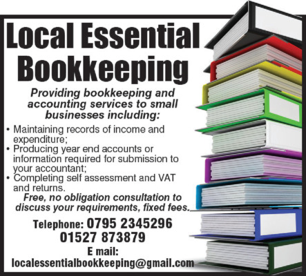 Local Essential Bookkeeping Services Advert