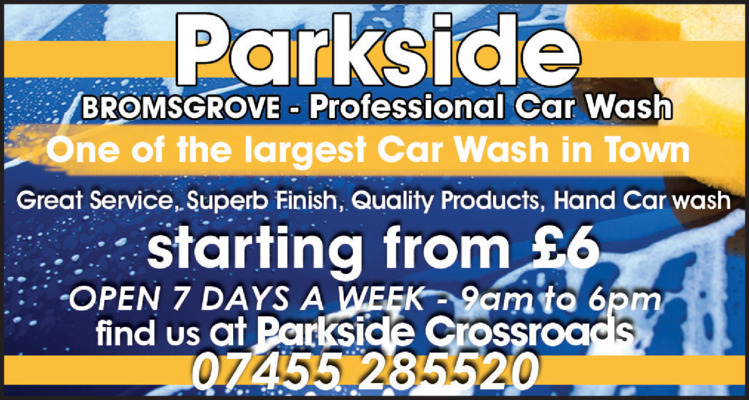 Parkside Car Wash Advert