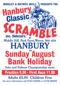 Hanbury Scramble Advert