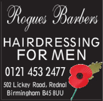 Deeming, Mr t/a Rogues Barbers Advert