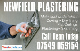 Newfield Plastering Advert