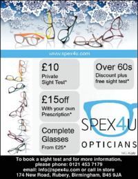 Spex 4 U Ltd Advert