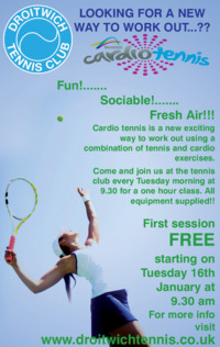 Droitwich Tennis Club Advert