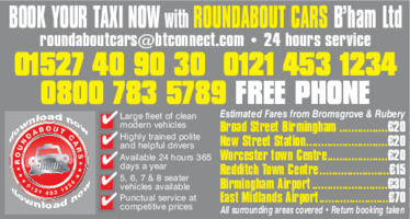 Roundabout Cars B'ham Ltd Advert