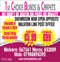 1st Choice Blinds Advert