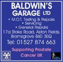 Baldwins Garage Ltd Advert