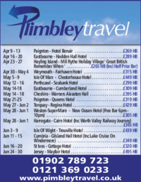 Plimbley Travel Advert