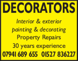 DA Smith Decorators Advert