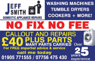 Jeff Smith Domestic Applicance Repairs Advert