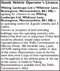 Whiting Landscapes Ltd Advert