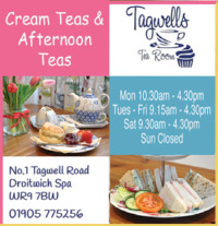Tagwells Tea Room And Cupcakes Advert