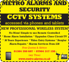 Metro Alarms And Security Advert
