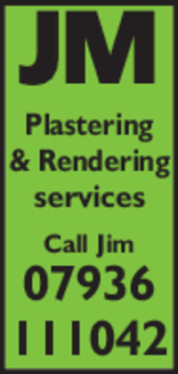 Jm Plastering Services Advert