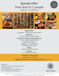 Dine India Advert
