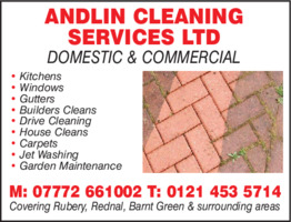 Andlin Cleaning Services Ltd Advert
