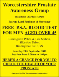 Worcestershire Prostate Awareness Advert