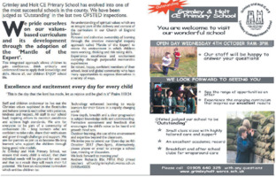 Grimley & Holt C of E Primary School Advert