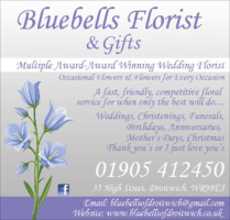 Bluebells Florist & Gifts Ltd Advert