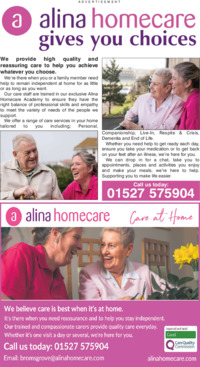 Alina Care Ltd Advert