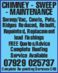 Chimney Sweep Maintenance Advert