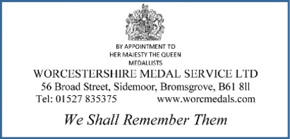Worcestershire Medal Servi Advert