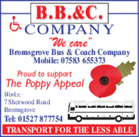 Bromsgrove Bus & Coach Co. Advert