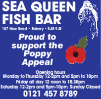 Sea Queen Fish Bar Advert