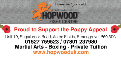 Hopwood Fight Centre Ltd Advert