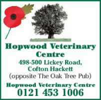 Hopwood Veterinary Centre Advert