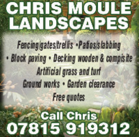 Chris Moule Gardening Advert