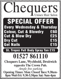 Chequers Advert