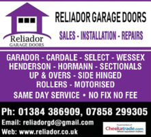 Reliador Garage Doors Advert