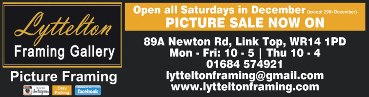 Lyttelton Framing Gallery Advert