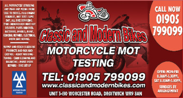 Classic & Modern Bikes Limited Advert