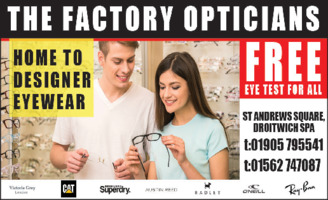 The Factory Opticians Advert