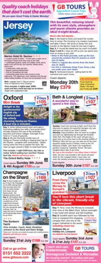 Gb Tours Advert