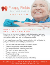 Poppyfields Denture Clinic Advert