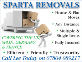 Sparta Removals Advert