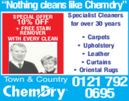 Town & Country Chem Dry Advert