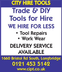 City Tool Hire Advert