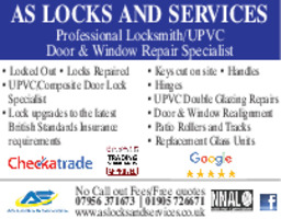 A S Locks & Services Advert