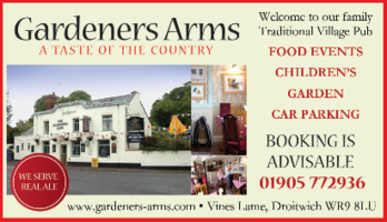 The Gardners Arms Advert