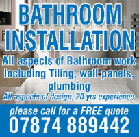 Complete Bathroom Installations Advert