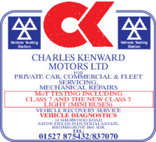 Charles Kenward Motors Ltd Advert