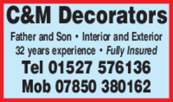 C & M Decorators Advert