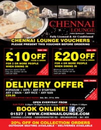 Chennai Lounge Advert