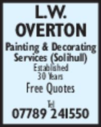 L. Overton Advert