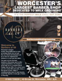 Barbers At 49 Advert