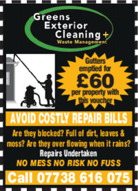 Greens Gutter Cleaning Advert