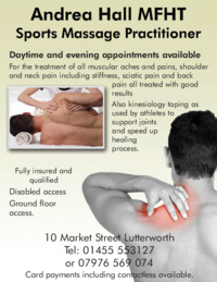 Andrea Hall Mfht Sports Massage Practitioner Advert
